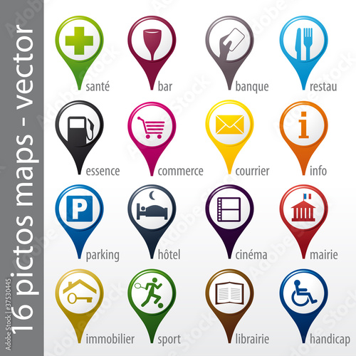 u0026quot set 16 icons  pictos  symboles  logos u0026quot  fichier vectoriel libre de droits sur la banque d u0026 39 images