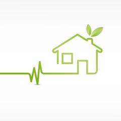 vecteur, maison écologique,saine