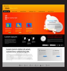 web design marketing template