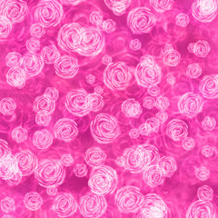 floral background with pink roses