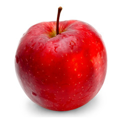 apple red isolated on white background