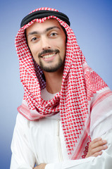 Diversity concept with young arab