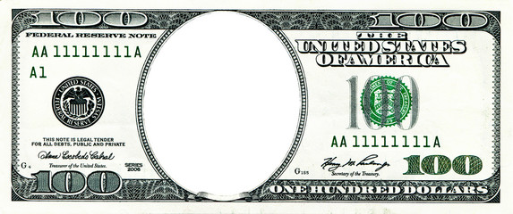 One hundred dollars without a portrait