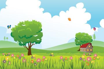 Spring season nature landscape