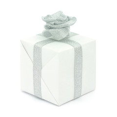 Gift box isolated with ribbon's flower