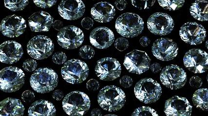 Set of round diamond isolated. Gemstone