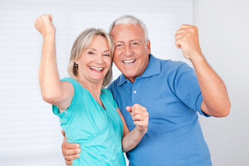 Portrait of Cheerful Couple