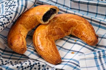 Hungarian xmas poppy crescent shape cake