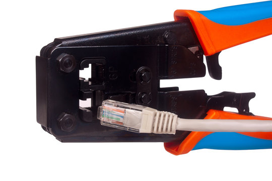 Network cable crimper