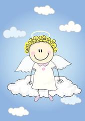 Photo sur Aluminium Ciel Angel on cloud