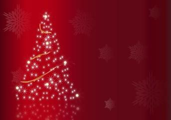 Postal de Navidad en rojo