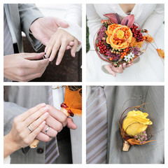 Set of elegance wedding photos