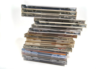 many cd & dvd boxes
