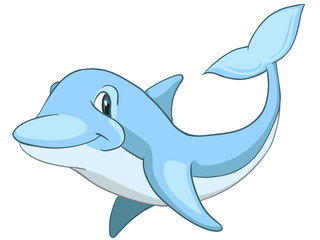 Cartoon Character Dolphin
