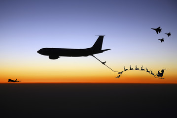 Santa Being Refueled