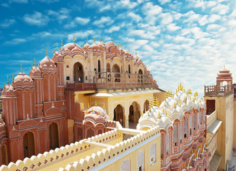 Deurstickers India Hawa Mahal, the Palace of Winds, Jaipur, Rajasthan, India.