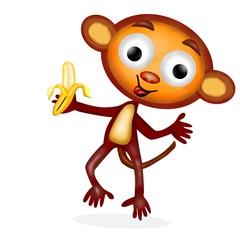 monkey con banana