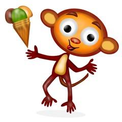 monkey con gelato