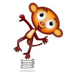 monkey che salta
