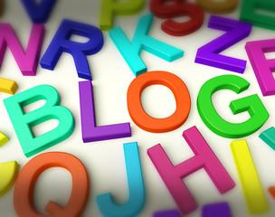 Letters Spelling Blog As Symbol for Weblog And Blogging