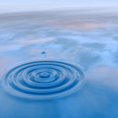 High resolution conceptual water drop