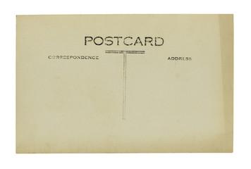 vintage postcard on a white background