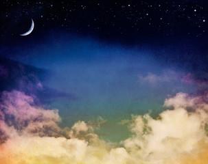 Misty Moon Seascape