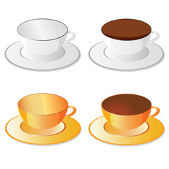 cup white and orange for coffee