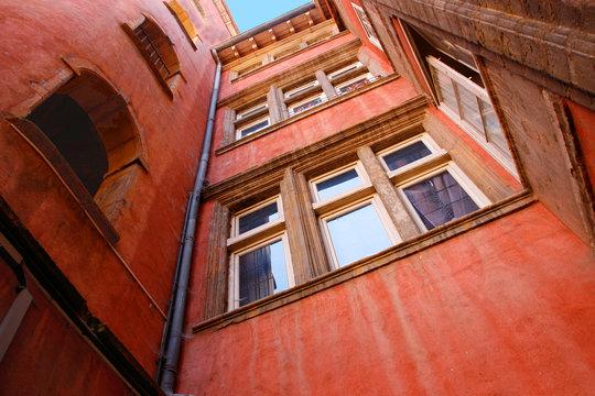 La Tour Rose, Altstadt von Lyon, Frankreich