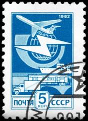 USSR - CIRCA 1982 Mail Transport