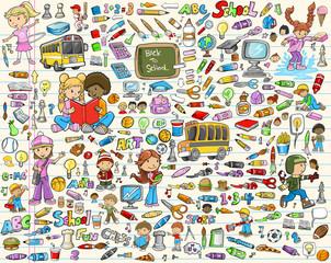 Learning School Vector Illustration Set