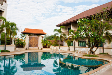 Swimming pool in hotel Thailand