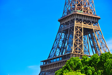 Wall Mural - Eiffel tower detail view