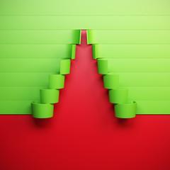 3d symbolic New Year's fir tree