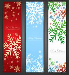 Set of christmas web banners