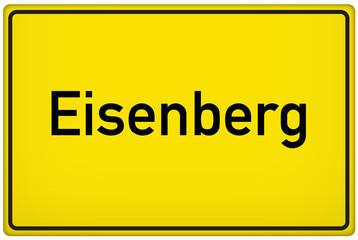 Ortseingangsschild der Stadt Eisenberg