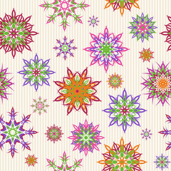 Vector illustration of a floral seamless pattern