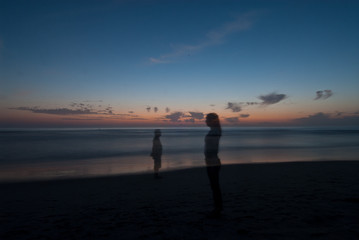 shadowplay at sunset