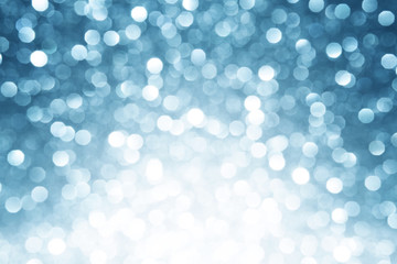 Blue defocused lights winter background