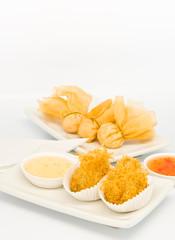 fried food in  Dim Sum restaurant
