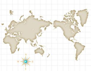 Poster Carte du monde 古い世界地図