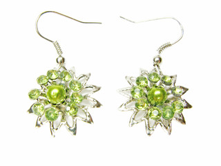 jewelry earrings with btight crystals