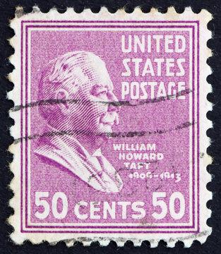 Postage stamp USA 1938 William Howard Taft