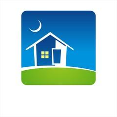 Green Eco friendly business logo design