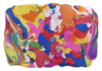 Rectangular rainbow banner