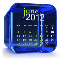 Blue June Calendar