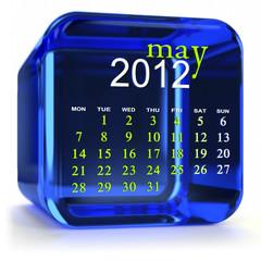 Blue May Calendar