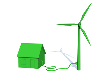 House getting sustainable power