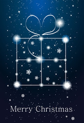Constellations - gift box on the sky