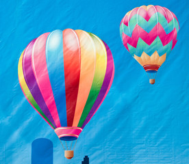 colorful balloons painting
